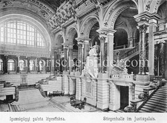Historisches Foto von Budapest (ca. 1900); Halle Justizpalais.