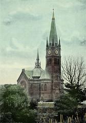 Die Apostelkirche in Hamburg Eimsbüttel wurde 1894 erbaut -  Architekten Erwin von Melle und Peter Gottlob Jürgensen. (ca. 1890)