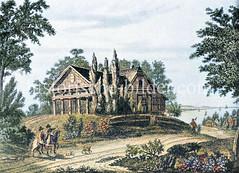 Gasthaus Tempel bei Teufelsbrück in Hamburg Nienstedten, ca. 1780 - abgebrannt 1796.