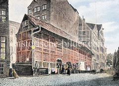 Zippelhaus bei den Mühren, historische Markthalle der Bardowieker Grünhändler - Zippeln sind Zwiebeln.