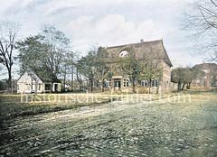 Gaststätte Schürbeck an der Grenze zu Hamburg, Teil der Landherrenschaft der Geestlande; das Etablissment wurde nach einem Bach benannt, der um 1860 zugeschüttet wurde.
