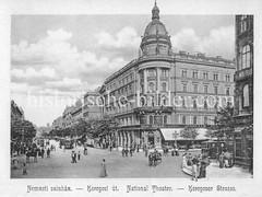 Historisches Foto von Budapest (ca. 1900); National Theater, Kerepeser Straße.