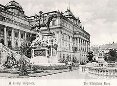 Historisches Foto von Budapest (ca. 1900); Königliche Burg.