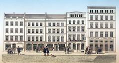 Historische Ansicht vom Neuen Wall - Neubauten nach dem Hamburger Brand von 1842.