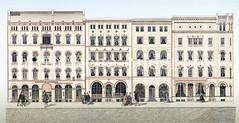 Historische Ansicht vom Großen Burstah - Neubauten nach dem Hamburger Brand von 1842.