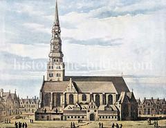 Hamburger Kirche St. Nicolas / Nikolai (ca. 1600?), ursprünglich erbaut 1358.