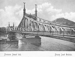 Historisches Foto von Budapest (ca. 1900); Franz Josef Brücke.