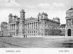 Historisches Foto von Budapest (ca. 1900); Justiz Palais.