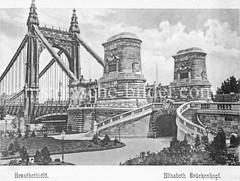 Historisches Foto von Budapest (ca. 1900); Elisabeth Brückenkopf.