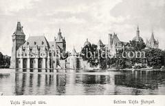Historisches Foto von Budapest (ca. 1900); Schloss Vajda Hunyad.