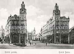 Historisches Foto von Budapest (ca. 1900); Klotild Palais.