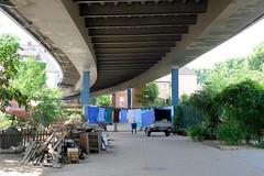 Fotos aus der Stadt Ludwigslust  im Landkreis Ludwigslust-Parchim im Bundesland Mecklenburg-Vorpommern; unter der Brücke der Landesstraße L 072.