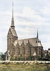 Friedenskirche in Hamburg Eilbek, geweiht 1884 - Architekt J. Vollmer.