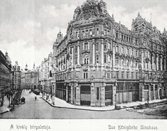 Historisches Foto von Budapest (ca. 1900); Königliche Zinshaus.