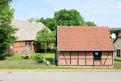 Fachwerkgebäude in Stuer - Landkreis Mecklenburgische Seenplatte im Bundesland Mecklenburg-Vorpommern