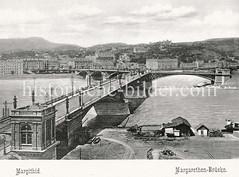 Historisches Foto von Budapest (ca. 1900); Margarethen Brücke.