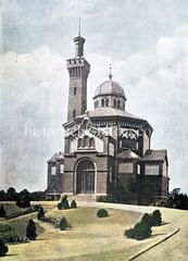 Krematorium beim Friedhof Ohlsdorf in Hamburg Alsterdorf, errichtet 1891.