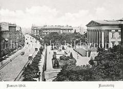 Historisches Foto von Budapest (ca. 1900); Museumsring.
