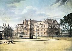 Das Gebäude für die Strafgerichtsbarkeit am Hamburger  Sievekingplatz  wurde 1879–1882 nach Entwurf von Hans Zimmermann errichtet.