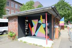 Ehem. Toilettenhaus  am Billhorner Mühlenweg in Hamburg Rothenburgsort - jetzt Nutzung als Nachbarschaftstreffpunkt und Foodsharingort.