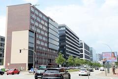 Verwaltungsgebäude, Bürohäuser am Heidenkampsweg in Hamburg Hammerbrook.