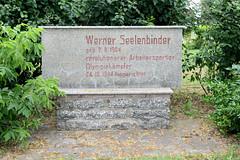 Ueckermünde ist ein Seebad am Stettiner Haff im Landkreis Vorpommern-Greifswald in Mecklenburg-Vorpommern. Denkmal für den Widerstandskämpfer Werner Seelenbinder - er war als Ringer Deutscher Meister in der Halbschwergewichtsklasse;