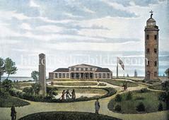 Das alte Badehaus in Cuxhaven, ca. 1823.