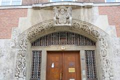 Eingangsportal des Amtsgerichts im Dammtorwall der Hamburger Neustadt - Architekt Fritz Schumacher.