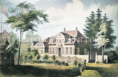 Altes Gebäude der Pestalozzi-Stiftung in Hamburg Bildwerder / Schiffbek - errichtet um 1846, Erziehungsanstalt für Knaben, die der sittlichen Verwahrlosung vorbeugen sollte - Nutzung bis 1866.