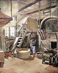 Alte Gold- und Silberschmelze in der jetzigen Neanderstraße in der Hamburger Neustadt - gegründet 1785; Ursprung der Norddeutschen Affinerie - jetzt  AURUBIS.