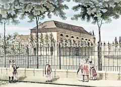St. Paulus Kirche in der Hamburger Vorstadt St. Pauli, Einweihung 1820.