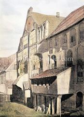 Aussenansicht des Sankt Johannisklosters an der Kleinen Alster in der Hamburger Altstadt - im 13. Jhd. auf der Hamburger Stadtmauer / Stadtbefestigung errichtet.