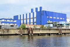 Fotos aus dem Hamburger Stadtteil Kleiner Grasbrook, Bezirk Mitte; Industriearchitektur im Steinwerder Hafen / Grenzkanal.