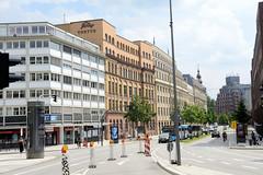 Blick in die Straße Stadthausbrücke in der Hamburger Neustadt.