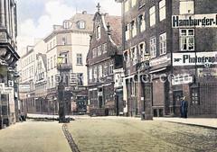 Gusseiserne Pforten als ehem. Nobistor, Grenze von Hamburg und Altona - Reeperbahn / Große Freiheit.