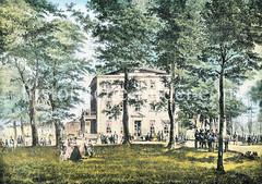 An Stelle des 1530 zerstörten Cistercienserinnen Abtei Herwardeshude entstand ein Wirtshaus, das 1813 von den Franzosen zerstört wurde - danach neu aufgebaut wurde es nach dem Hamburger Brand von 1842 bis 1858 als Waisenhaus genutzt.