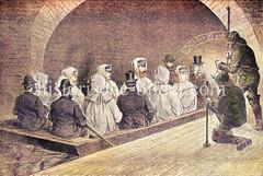 Hamburger Sielgewölbe 1877 - der Kronprinz, späterer Kaiser Friedrich III mit Frau und Sohn werden mit einer Barke durch das Geeststammsiel gefahren. Mitfahrer u.a. Ober-Ingenieur Meyer, Syndicus Merck, Senator Hertz.