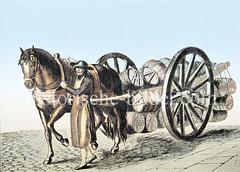 Die Bierführer waren in Hamburg eine selbständige Zunft, die das Bier in Fässern mit Pferd und Wagen zum Kunden brachten.