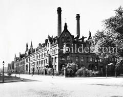 Historische Ansicht vom  Kraftwerk Bullerdeich in Hamburg Hammerbrook..