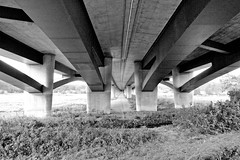 Autobahnbrücke der A 14 über die Elde bei Fresenbrügge, Grabow.