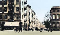Blick von der Straße Beim Strohhause in die Hammerbrookstraße in Hamburg St. Georg, ca. 1900.